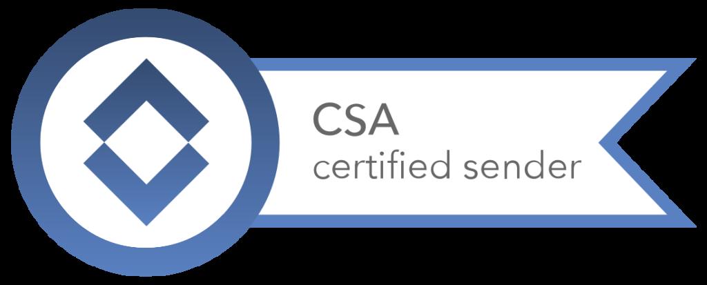 CSA Certified Senders Alliance Trust Seal